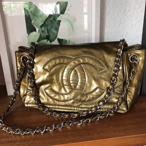 Authentic Vintage Olive Chanel Bag